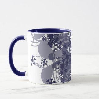 Swirling Snow Blue Mug