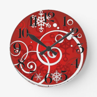Swirling Snow Holiday Clock