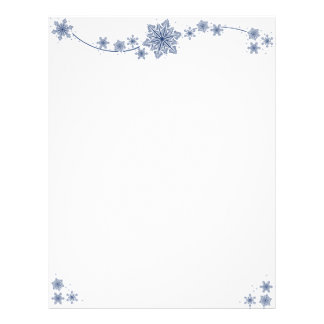 Swirling Snowflakes Letterhead
