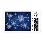 Swirling Snowflakes Postage