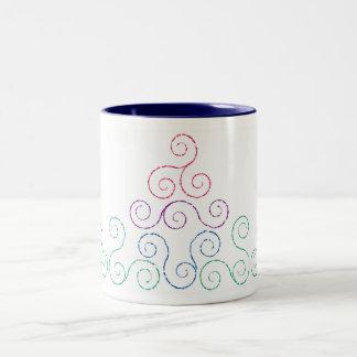 Swirling Steam Two-Tone Coffee Mug