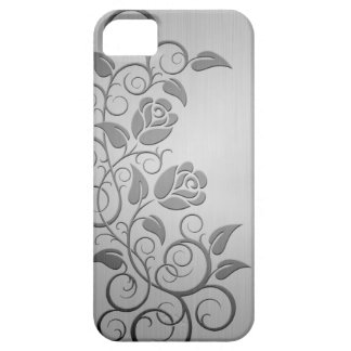 Swirling Steel Roses iPhone 5 Cover
