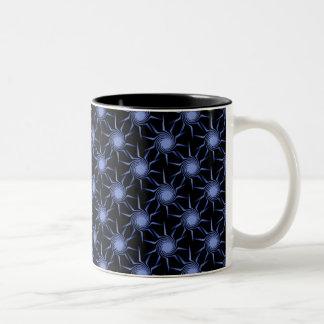Swirling Suns Mug, Light Blue Two-Tone Coffee Mug