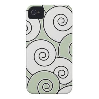 Swirling Swirls Sage Green BlackBerry Bold Case