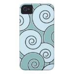 Swirling Swirls Teal BlackBerry Bold Case