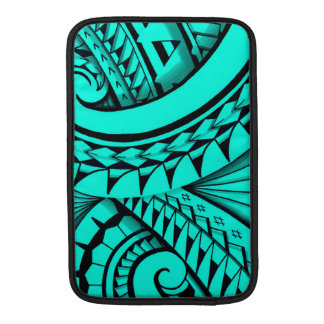 Swirling tribal patterns triangles in Polyart Sleeve For MacBook Air