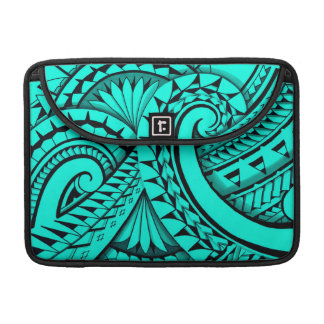 Swirling tribal patterns triangles in Polyart Sleeve For MacBooks