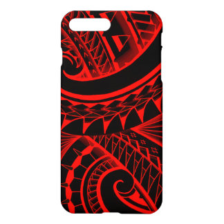 swirling tribal polynesian tatoos in bright colors iPhone 7 plus case