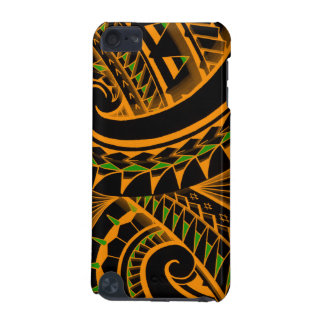 swirling tribal polynesian tatoos in bright colors iPod touch 5G case