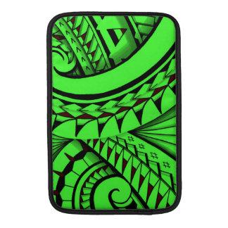 swirling tribal polynesian tatoos in bright colors MacBook sleeve