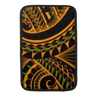 swirling tribal polynesian tatoos in bright colors sleeves for MacBook air