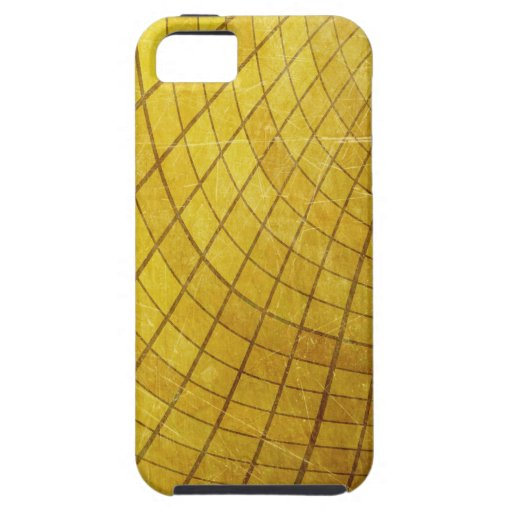 SWIRLING TWISTING SQUARES STRIPES YELLOW VORTEX DI iPhone 5 COVERS