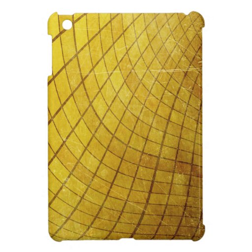 SWIRLING TWISTING SQUARES STRIPES YELLOW VORTEX DI iPad MINI CASES