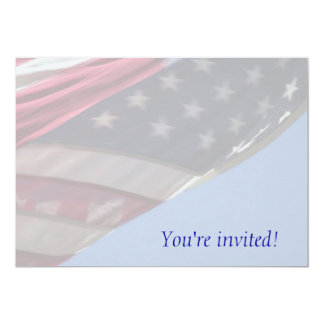 swirling USA flag invitation
