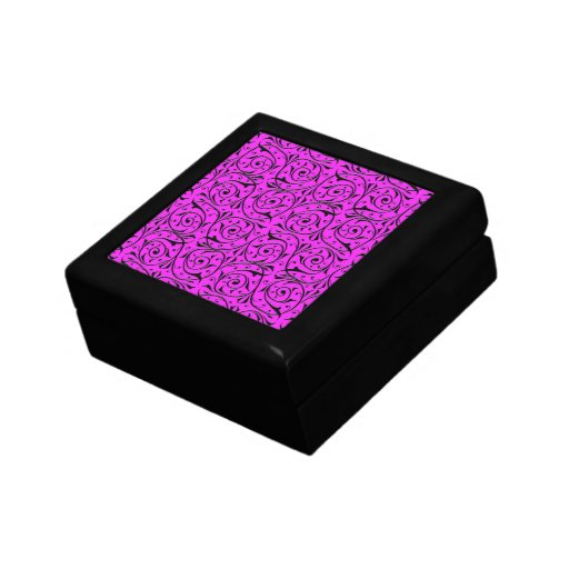 Swirling Vines on Shocking Pink Gift Boxes