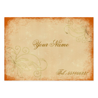 swirling vintage floral large business cards (Pack of 100)