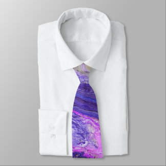 Swirling Vivid Blue Purple and Pink Neck Tie