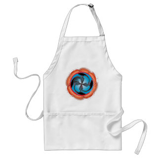 Swirling vortex of color and abstract shapes adult apron