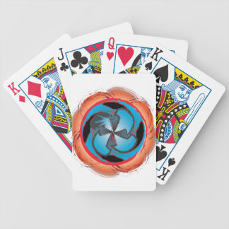 Swirling vortex of color and abstract shapes poker deck