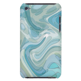 Swirling Water Abstract Art Turquoise iPod Touch Covers