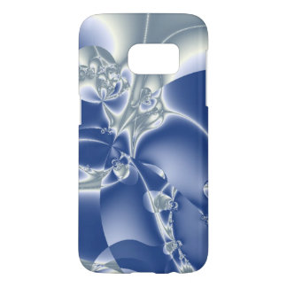 Swirling White and Blue Ice Abstract Samsung Galaxy S7 Case