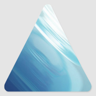Swirling winds on the blue planet triangle sticker