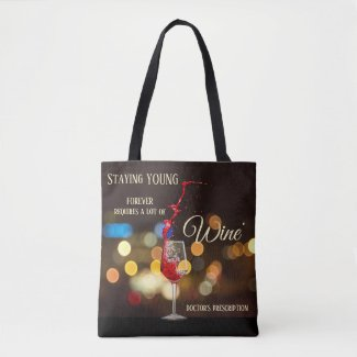 Swirling Wine Light Sparkles Tote Bag