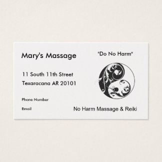 Swirling Yinyang Symbol (black) Business Card