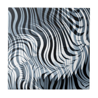 Swirls Abstract Design Ceramic Tile