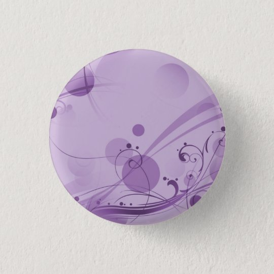 SWIRLS AND CIRCLE DOTS LIGHT PURPLE PINBACK BUTTON