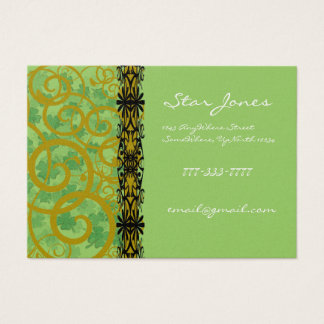 Swirls and Clover and Shamrocks Galore Business Card