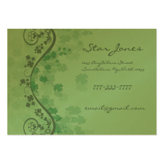 Swirls and Clover and Shamrocks Galore Large Business Card