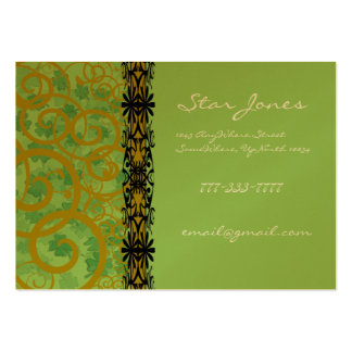 Swirls and Clover and Shamrocks Galore Large Business Cards (Pack Of 100)