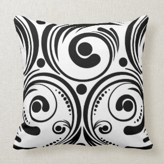 Swirls and Dots Throw Pillow
