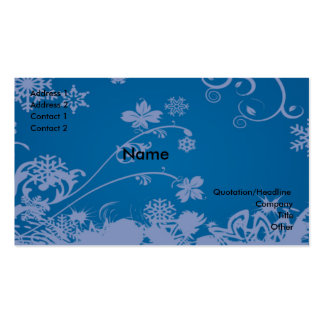 Swirls and flowers business card