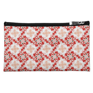 Swirls and Hearts Red & White Pattern Bags