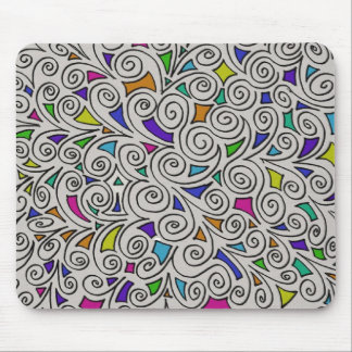 Swirls and Pieces Design Mouse Pad