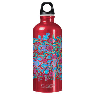 Swirls and Squiggles Aluminum Water Bottle