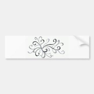 Swirls and Twirls Bumper Sticker