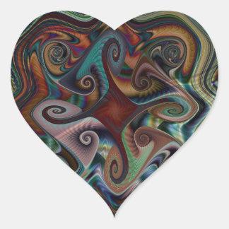 Swirl's and Twirl's heart Sticker