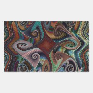 Swirl's and Twirl's rectangle Sticker
