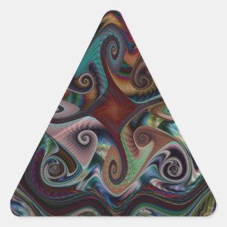 Swirl's and Twirl's triangle Sticker