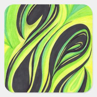 Swirls August 12, 2014 by Mark Bray Square Sticker
