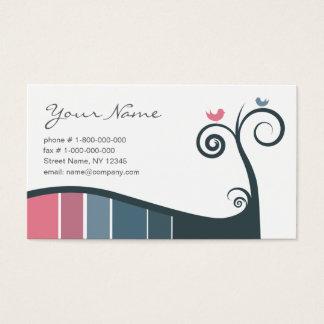 Swirls Business Card - Blue