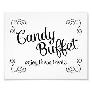 Swirls Candy Buffet Custom Wedding Print Photo Print
