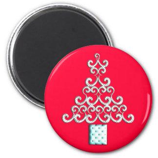 Swirls Christmas Tree Fridge Magnets