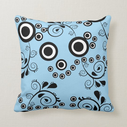 Swirls, Circles, Parsley and Polka Dots  American Throw Pillow
