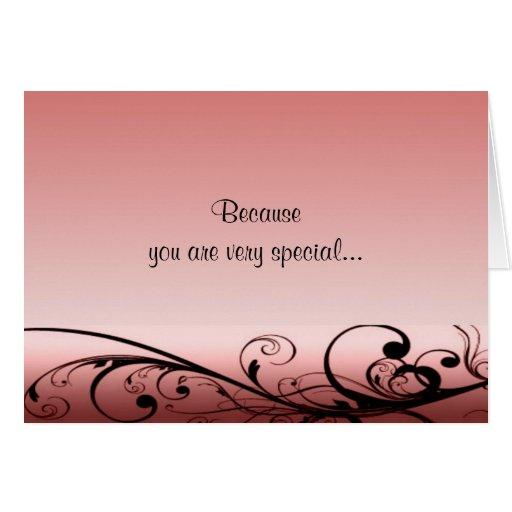 Swirls Deco Birthday Card