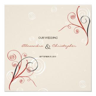 Swirls Elegant Wedding Announcement