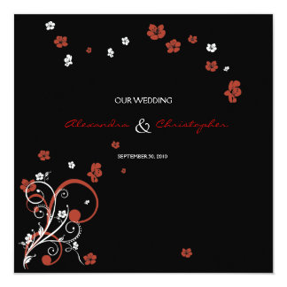 Swirls & Flowers Elegant Wedding Announcement